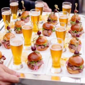 cocktail-hour-food-drink-pairings-sliders-pilsner